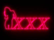 Strip bar wall neon Stock Photos