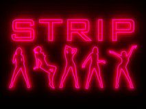 Strip bar wall neon Royalty Free Stock Photo