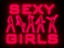 Strip bar wall neon Stock Photography