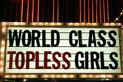 Strip club neon lights Royalty Free Stock Image