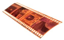 Exposed Color Negative Film Isolated Royalty Free Stock Photography