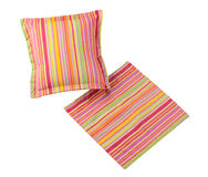 Colorful stripes pillow isolated  Stock Images