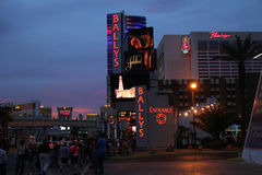 On the strip at dusk Stock Photography