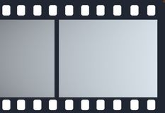 Strip film. Isolated frame blue Stock Image