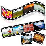 Strip film colorful Royalty Free Stock Photography