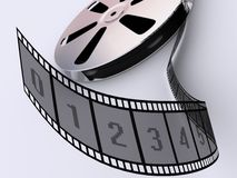 Strip film reel Royalty Free Stock Images