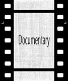 Documentary. A strip of film with the text Documentary Stock Photos