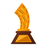 Strip film trophy awards golden. Vector illustration eps 10 Royalty Free Stock Photo