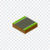 Without Strip Isometric.  Royalty Free Stock Photography