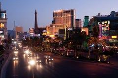 The Strip/Las Vegas. The Strip at sunrise,Las Vegas Nevada Royalty Free Stock Images