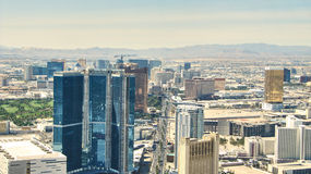 The Strip of Las Vegas - Hotels Aereal View Stock Photos