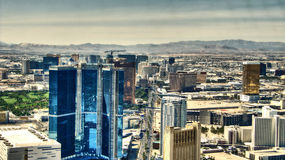 The Strip of Las Vegas - Hotels Aereal View Royalty Free Stock Photo