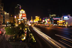 Strip in Las Vegas by night Royalty Free Stock Images