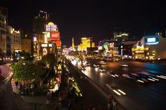 Strip in Las Vegas by night Stock Photo