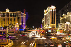 The strip in Las Vegas at night Stock Image