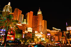 The Strip in Las vegas at night Royalty Free Stock Photo