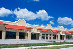 Strip mall construction. Construction phase of a new strip mall Royalty Free Stock Photos