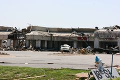 Strip Mall After EF5 Tornado Royalty Free Stock Image