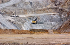 Strip Mine. Operation with equipment Royalty Free Stock Photo