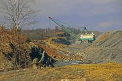 Strip Mining. For coal in western Kentucky, United States Royalty Free Stock Image