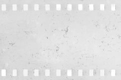 Strip of old celluloid film with dust and scratches Stock Photography