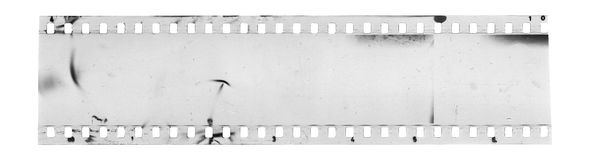 Strip of old celluloid film Royalty Free Stock Images