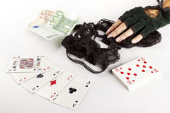 Strip poker concept Stock Photos
