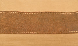 Strip of pressed leather Stock Photos