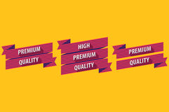 Flat Design Ribbons Royalty Free Stock Photos