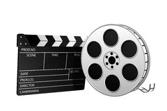 Strip, roll, and movie slate Royalty Free Stock Image
