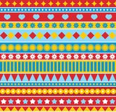 Strip seamless pattern in style of 70ies. Stock Photography