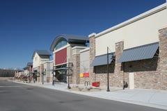 Strip Shopping Center Stock Photo