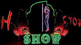 Strip show dance. Timelapse stock video footage