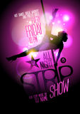 Strip show party design with stripper woman. Royalty Free Stock Image