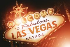 Strip Sign of Las Vegas royalty free stock photos