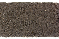 Strip of the soil isolated Royalty Free Stock Photos