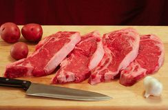 Strip steak dinner Stock Image