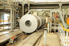 Strip steel production workshop Stock Photos