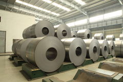 Strip steel Stock Photo