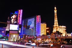 Strip street night scene, Las Vegas Royalty Free Stock Photography