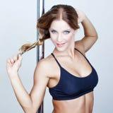 Strip-tease frais sexy de danseur de poteau Images libres de droits