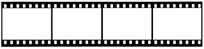 A strip of used 35mm film with clipping paths Royalty Free Stock Image