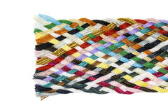 Strip woven cotton multicolored. Isolated Stock Image