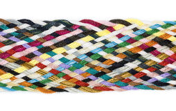 Strip woven cotton multicolored. Isolated Royalty Free Stock Photo