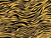 Stripe чернота оранжевого желтого цвета картины текстуры меха тигра джунглей животных безшовная повторяя бесплатная иллюстрация