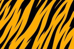 Stripe animals jungle tiger fur texture pattern yellow orange black. Print royalty free illustration
