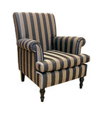 Stripe armchair Stock Images
