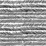 Stripe black and white boho retro seamless pattern Stock Photo