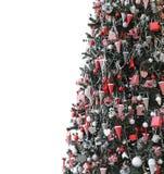 Stripe Christmas tree Royalty Free Stock Photos