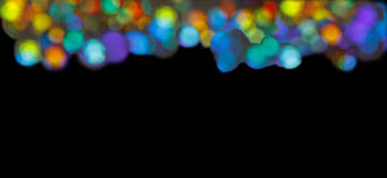Stripe circles multicolor black background Stock Photography
